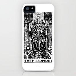 Floral Tarot Print - The Hierophant iPhone Case