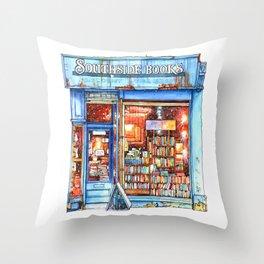Edinburgh Bookstore Throw Pillow
