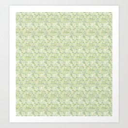 Tropical Stripes Art Print