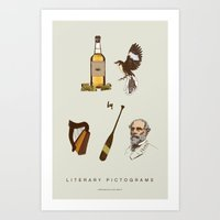 tequila Art Prints featuring Tequila Mockingbird by Sam Mitchell