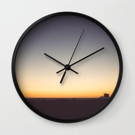 Venice Beach Sunset Wall Clock
