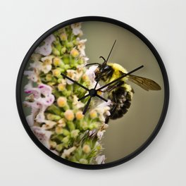 A Bumble Bee Working Wall Clock