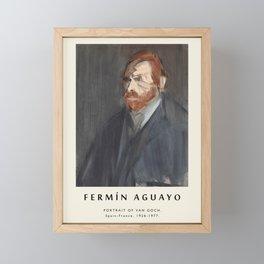 Poster-Fermin Aguayo-Portrait of Van Goch. Framed Mini Art Print