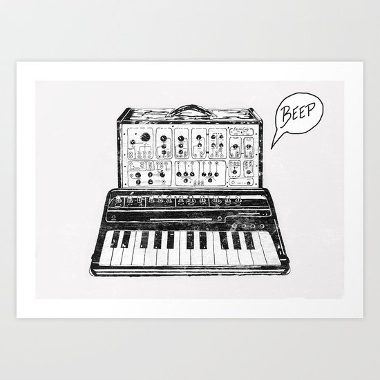 Keyboard.  Art Print