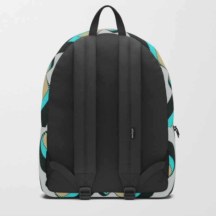 Retro pattern . A Peacock's Tail 1 . Backpack