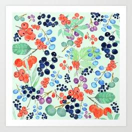 joyful berries Art Print