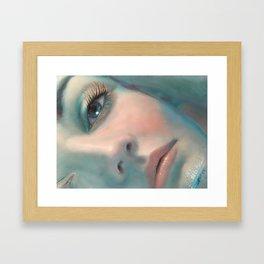 Blue Gaze Framed Art Print