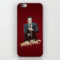 quentin tarantino iPhone & iPod Skins featuring Quentin by CromMorc