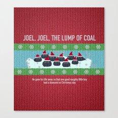 Lump of Coal / Christmas Sweater Canvas Print