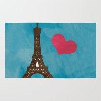 eiffel Area & Throw Rugs featuring Eiffel by Daniela Marti