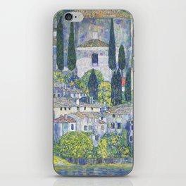 Gustav Klimt Church in Cassone iPhone Skin