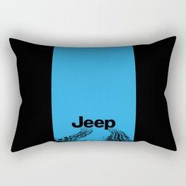 Jeep 'Tire-tracks' Surfblue Rectangular Pillow