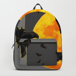 GREY HALLOWEEN BAT MIGRATION TO  MOON ART Backpack