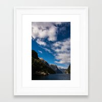 new zealand Framed Art Prints featuring New Zealand by Michelle McConnell