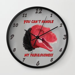 Dinosaurs | Fabulous Trex is fabulous  Wall Clock