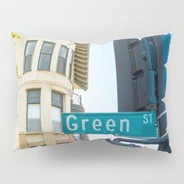 Street photography Green street Pillow Sham