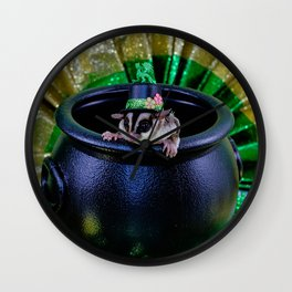 Fuzzy Leprechaun for St Patrick's Day Wall Clock
