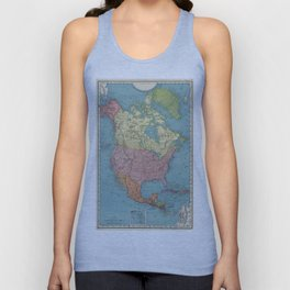 Vintage Map of North America (1903) Unisex Tank Top