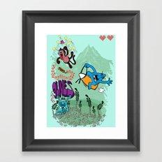9 lives theme 1 Framed Art Print