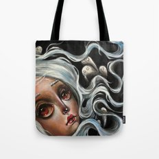 White Spirits :: Pop Surrealism Painting Tote Bag