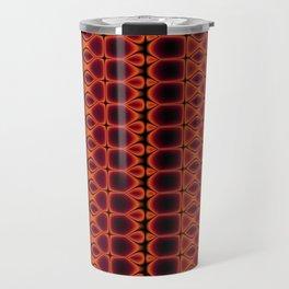 Red and Orange Pattern Stripes Travel Mug