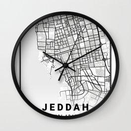 Jeddah Light City Map Wall Clock