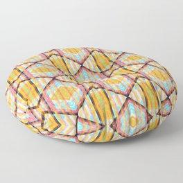 Colorful Kaleidoskop Floor Pillow