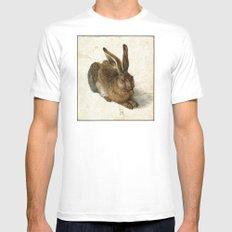 Albrecht Durer - Hare Mens Fitted Tee MEDIUM White