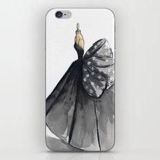Polka Dot Watercolor Fashion Gown iPhone & iPod Skin