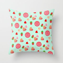 Candy pattern Throw Pillow