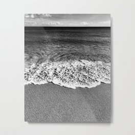 Minimalist Black and White Beach Metal Print