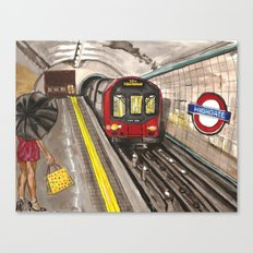 Down in a Tube Station at Midnight Canvas Print