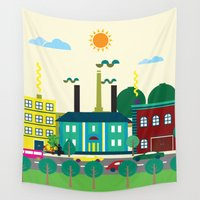 industrial Wall Tapestries featuring Industrial area by Design4u Studio