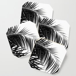 Palm Leaves Black & White Vibes #3 #tropical #decor #art #society6 Coaster