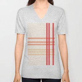 Orange line pattern beautiful, abstract and simple Unisex V-Neck