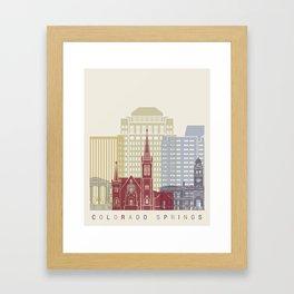 Colorado Springs skyline poster Framed Art Print