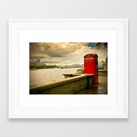 telephone Framed Art Prints featuring Telephone by Davide Bergamini