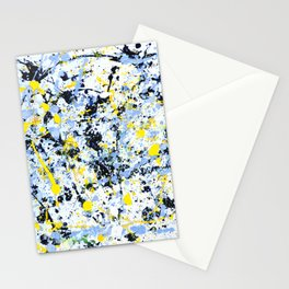 Abstract in Blue, Yellow and Black Stationery Cards