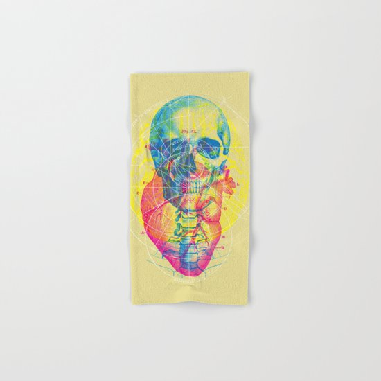 Brain Heart Skull Hand & Bath Towel