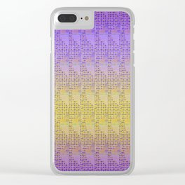 Kaleidoscope Kente Clear iPhone Case