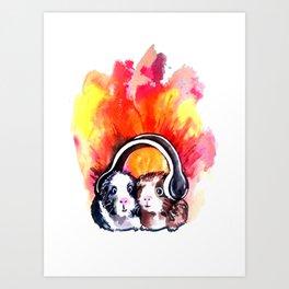 Guinea Pigs Music Art Print