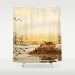 Hunting Pintail Ducks Shower Curtain
