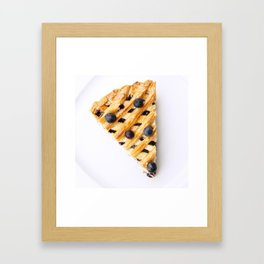 Blueberry Pie Framed Art Print