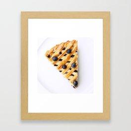 Blueberry Pie Framed Art Print