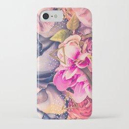 Collage flowers - geometrics iPhone Case