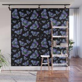 Blue Moths Wall Mural