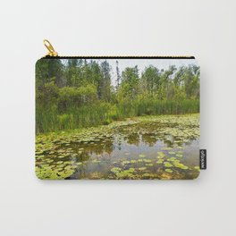 Abundant Lily Pads Along the Shoreline of Grant Lake, Minnesota 2 Carry-All Pouch