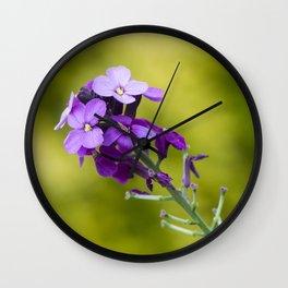 Purple nature Wall Clock