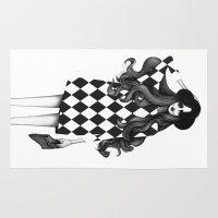 fashion illustration Area & Throw Rugs featuring Fashion Illustration by Sibling & Co.