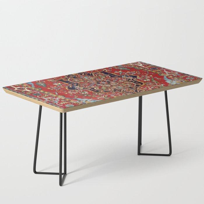 Heriz  Antique Persian Rug Print Coffee Table